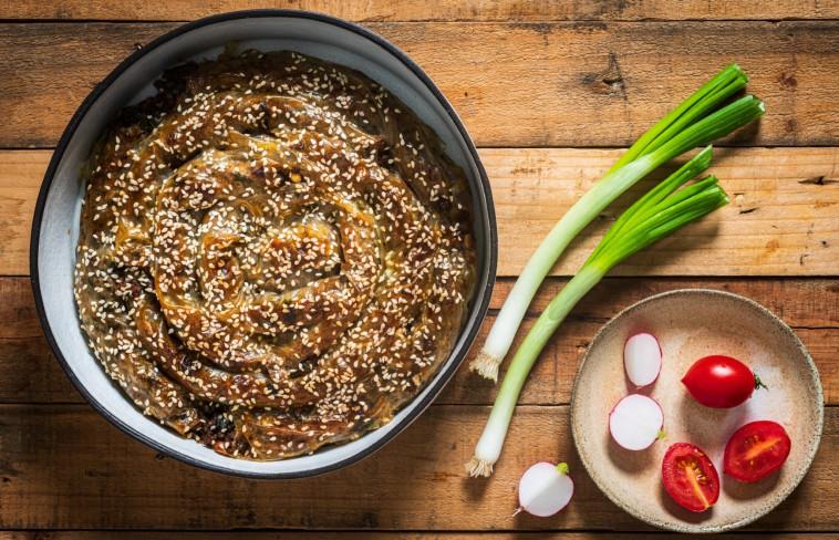 שבלול צ'וקור בשר בדפי אורז (צילום: נמרוד סונדרס)