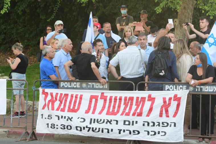 הפגנת הימין נגד ממשלת השינוי (צילום: אבשלום ששוני)