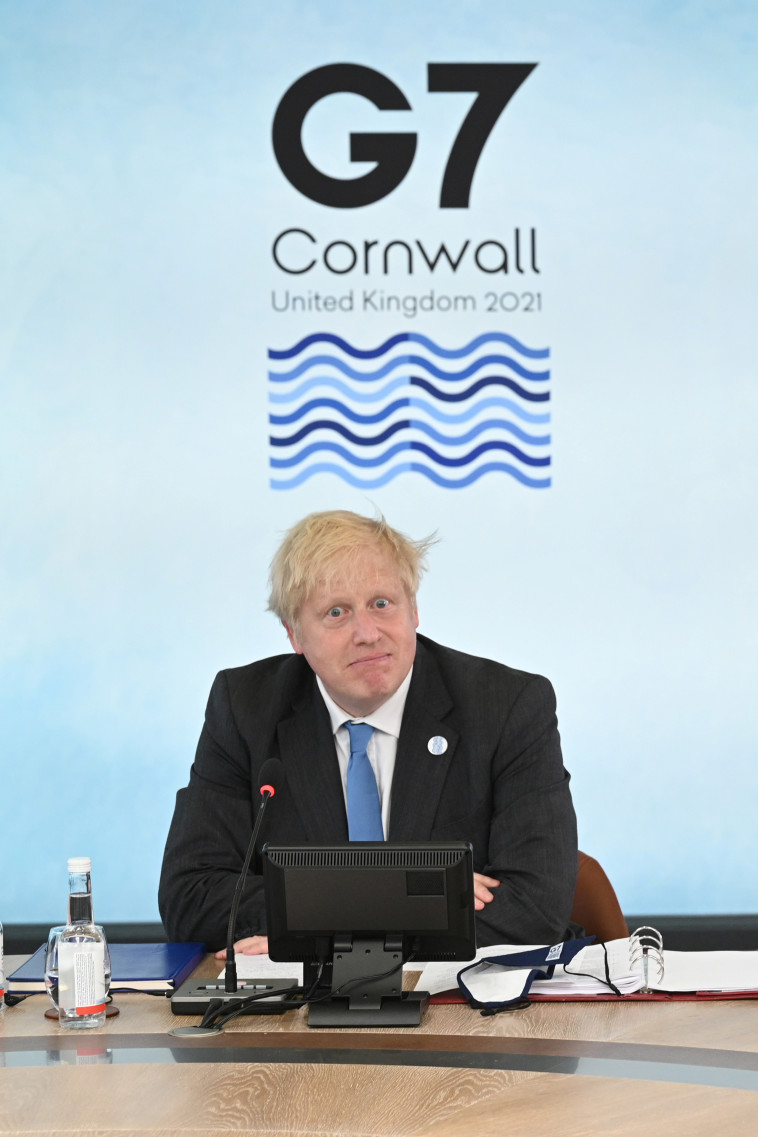 Boris Johnson at a G7 conference in the UK (Photo: Leon Neal / Pool via REUTERS)