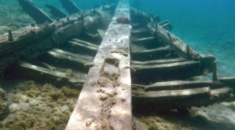 הריסות הספינה שנמצאה באגם מישיגן (צילום: Getty images)