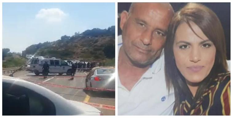 הנרצחים סמוך לצומת עילבון, כוחות הביטחון בזירת הרצח (צילום: רשתות חברתיות,צילום מסך: תיעוד מבצעי מד''א)