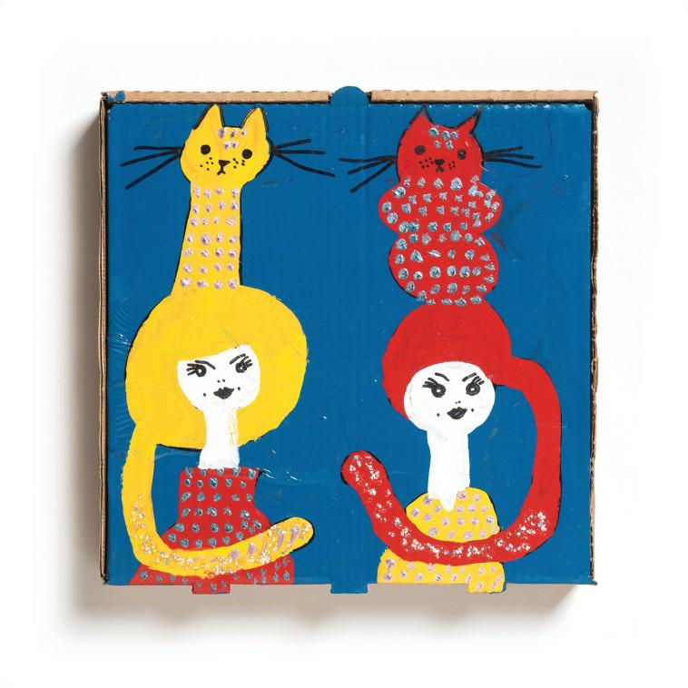תערוכת ''אישה, חתול, פיצה'', ענת גרנות (צילום: יאיר מיוחס)