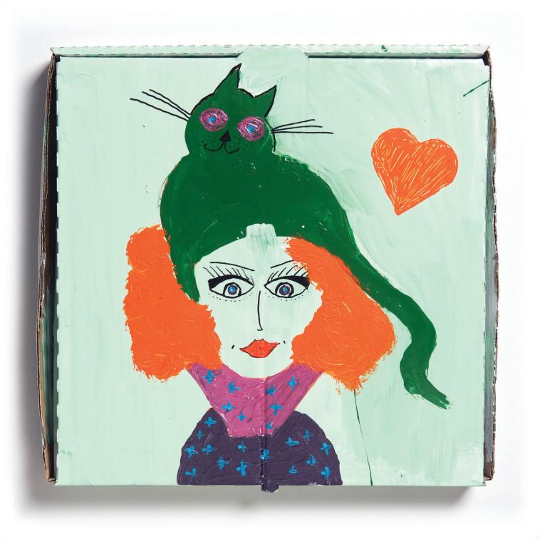 תערוכת ''אישה, חתול, פיצה'', ענת גרנית (צילום: יאיר מיוחס)