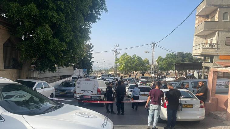זירת הרצח בנצרת (צילום: דוברות המשטרה)