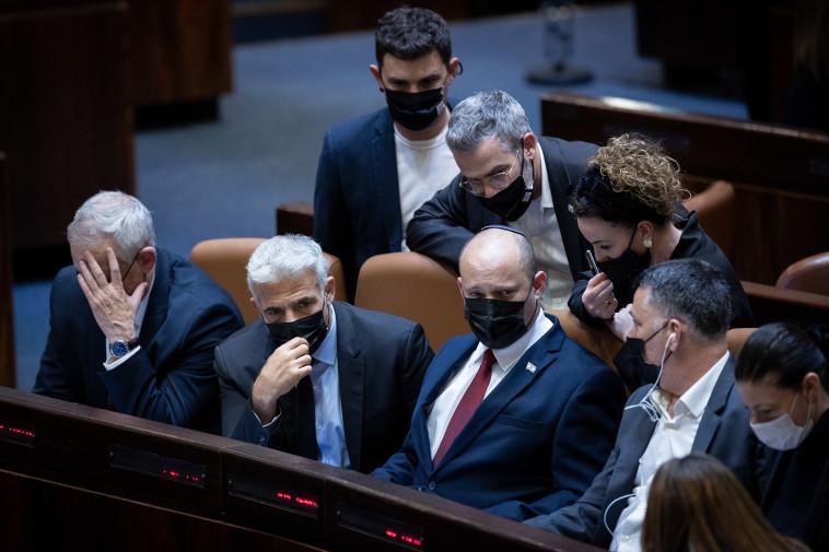 ראשי מפלגות הקואליציה (צילום: יונתן זינדל, פלאש 90)