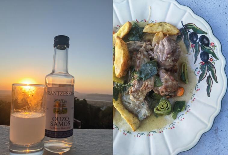 אוזו, שקיעה ואוכל. מסעדת אורומדון בקוס יוון (צילום: אסנת גואטה)