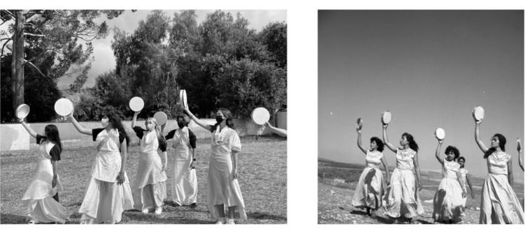 שחזור תמונת פסטיבל המחול בקיבוץ דליה (צילום: ההסתדרות הציונית העולמית)