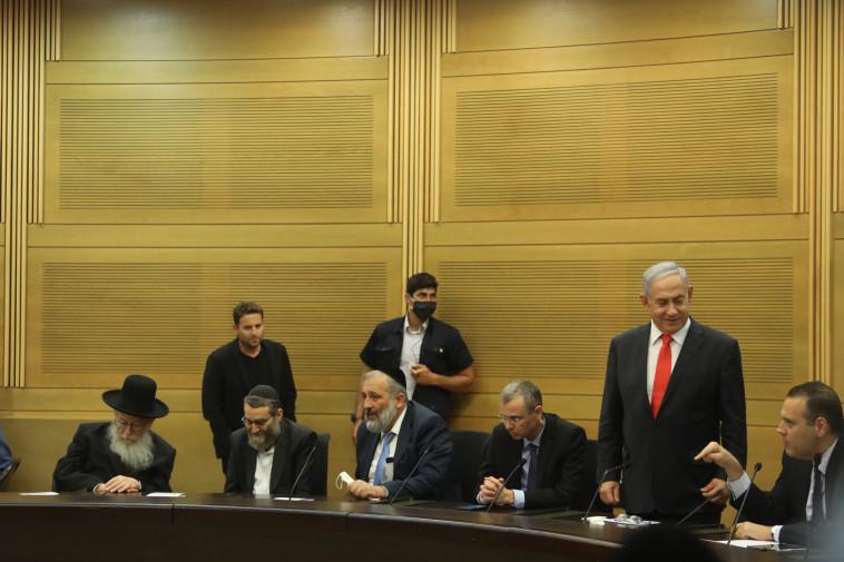 ישיבה של האופוזיציה (צילום: מרק ישראל סלם)