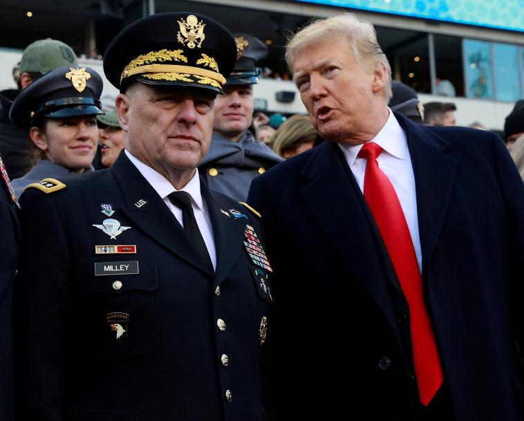 טראמפ, מיליי (צילום: REUTERS/Jim Young/File Photo)