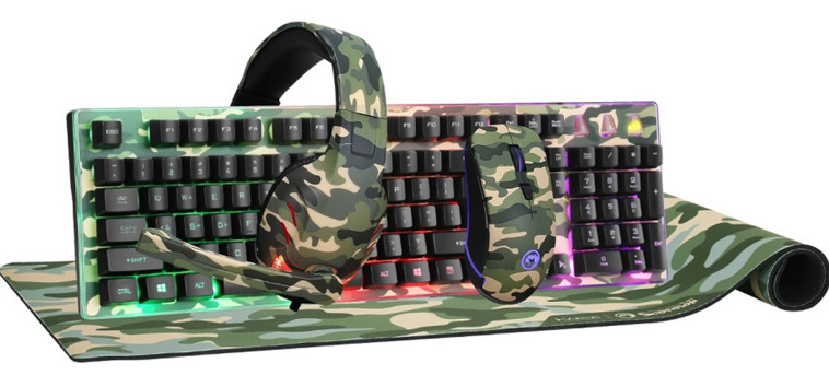 A professional gaming kit that includes: a keyboard, mouse, pad and headphones from MARVO.  Price: NIS 297 (Photo: PR)