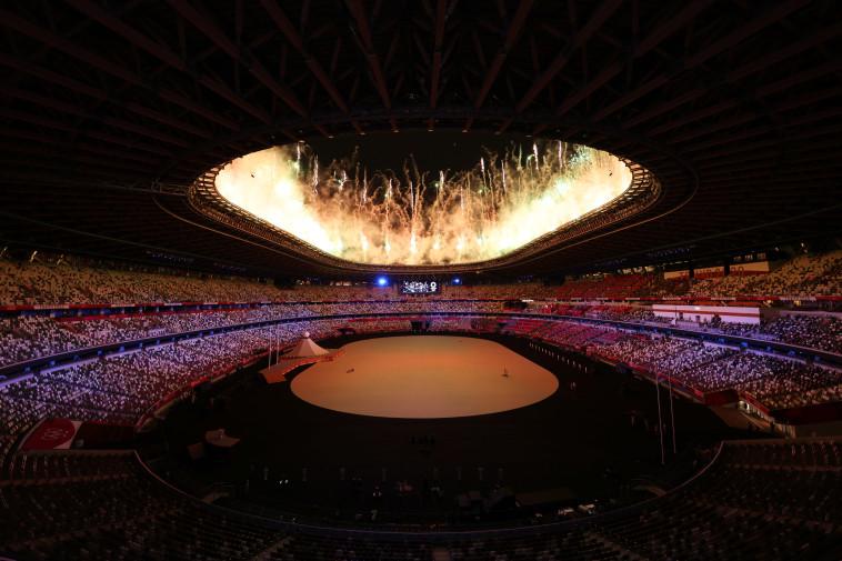 טקס הפתיחה של אולימפיאדת 2020 (צילום: REUTERS/Mike Blake/File Photo)