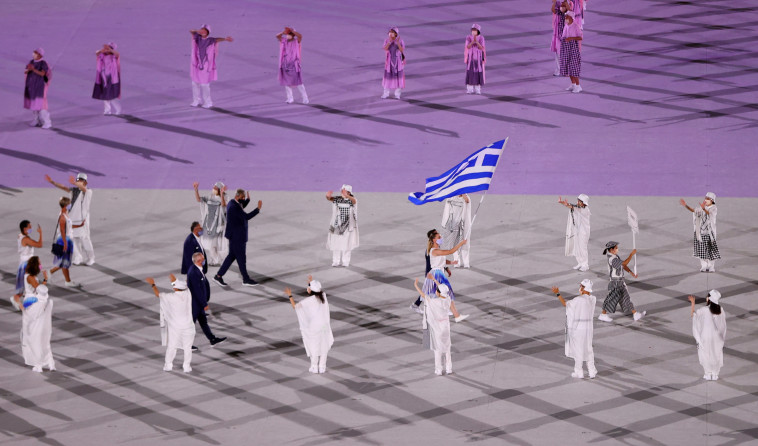 המשלחת היוונית  (צילום: REUTERS/Leonhard Foeger)