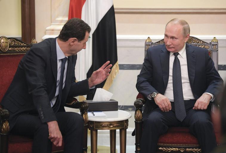 ולדימיר פוטין, בשאר אל אסד (צילום: רויטרס)