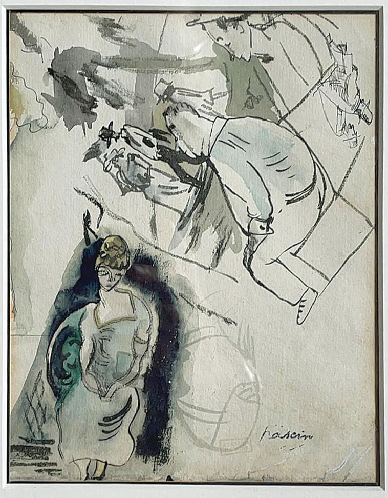 ציור של פסקין (צילום: רון מיברג)
