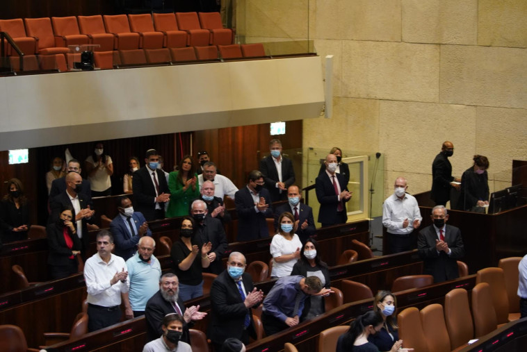 האופוזיציה מגיבה בצהלות לנפילת חוק הקנאביס (צילום: נועם מושקוביץ, דוברות הכנסת)