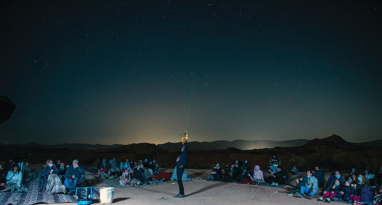 מצפה שירת הכוכבים בירוחם (צילום: מרדכי גורדון)
