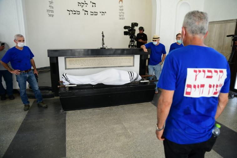 הלוויתו של רוני דניאל (צילום: אבשלום ששוני)