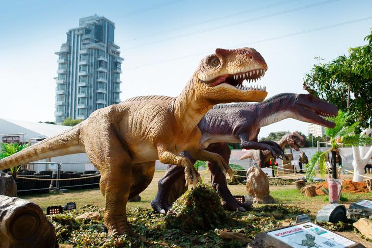 פארק הדינוזאורים בספורטק ת''א (צילום: באדיבות EGOEAST הפקות)