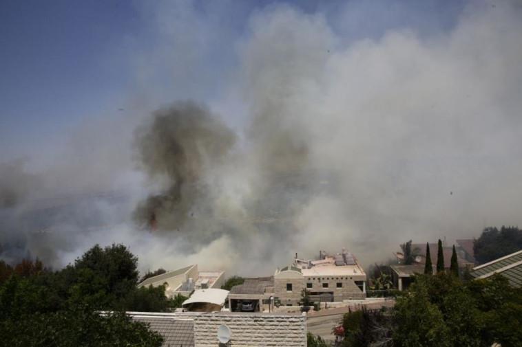 שריפה בירושלים (צילום: שלו שלום/TPS)