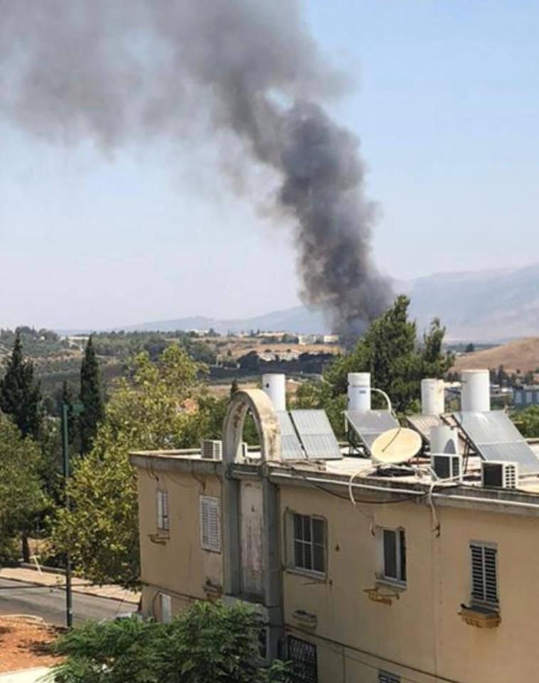 הפיצוץ באזור קרית שמונה (צילום: עמר אסדי)