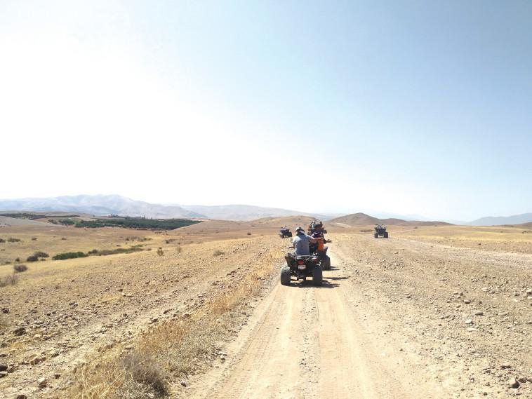 טרקטורונים במדבר אגאפאי (צילום: אילנה שטוטלנד)
