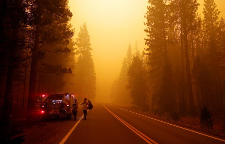 השריפה דיקסי בקליפורניה (צילום: רויטרס)