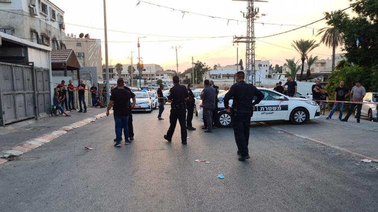 זירת הרצח בלוד (צילום: ללא)