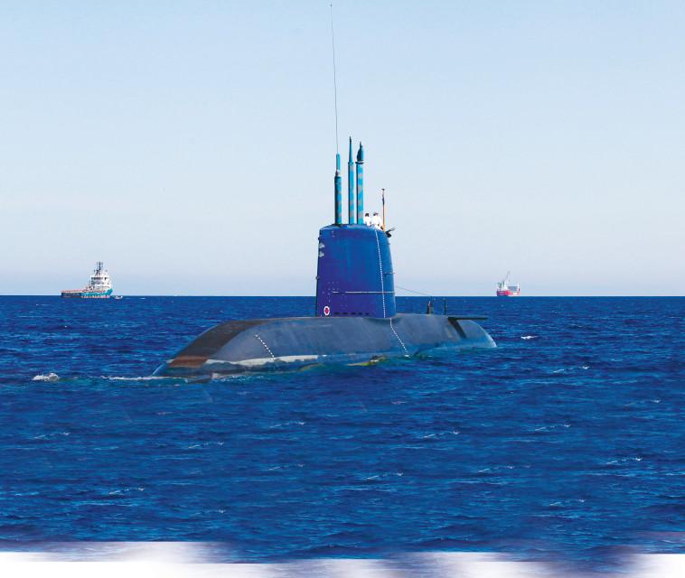 צוללת חיל הים דולפין  (צילום: רויטרס)