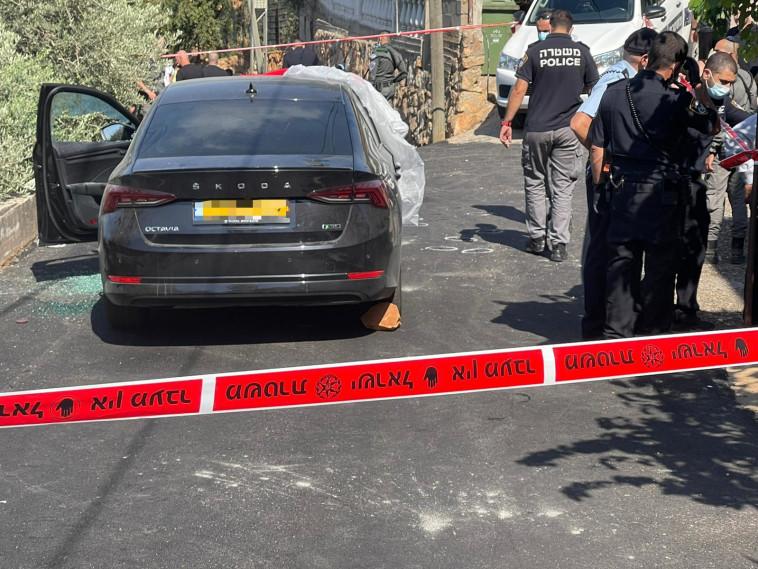 זירת הרצח בראמה (צילום: דוברות המשטרה)