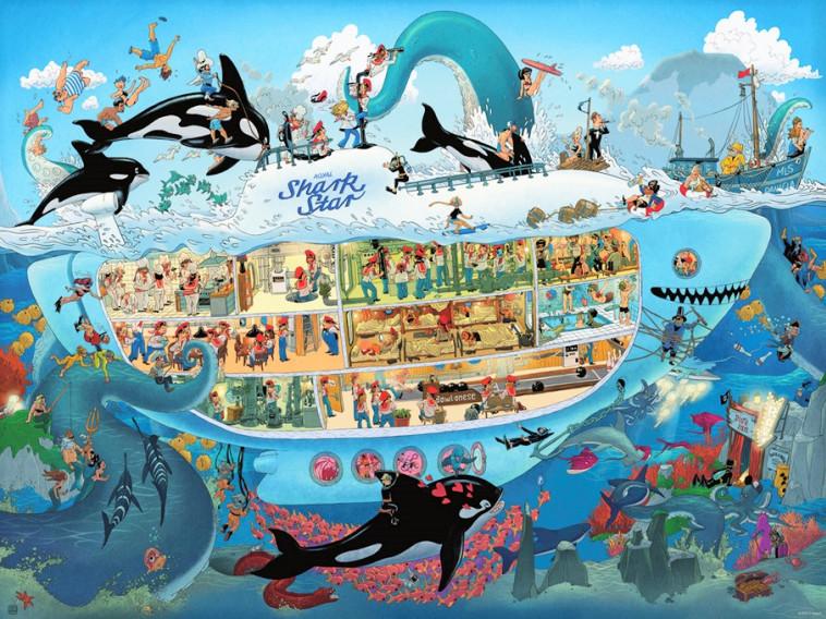 El submarino se regocija: un rompecabezas para toda la familia (Foto: Heye, cortesía de Family Glue)