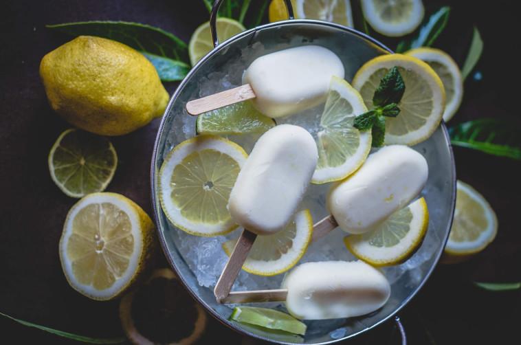 שלגון לימון חלבי  (צילום: סטודיו TEKA)