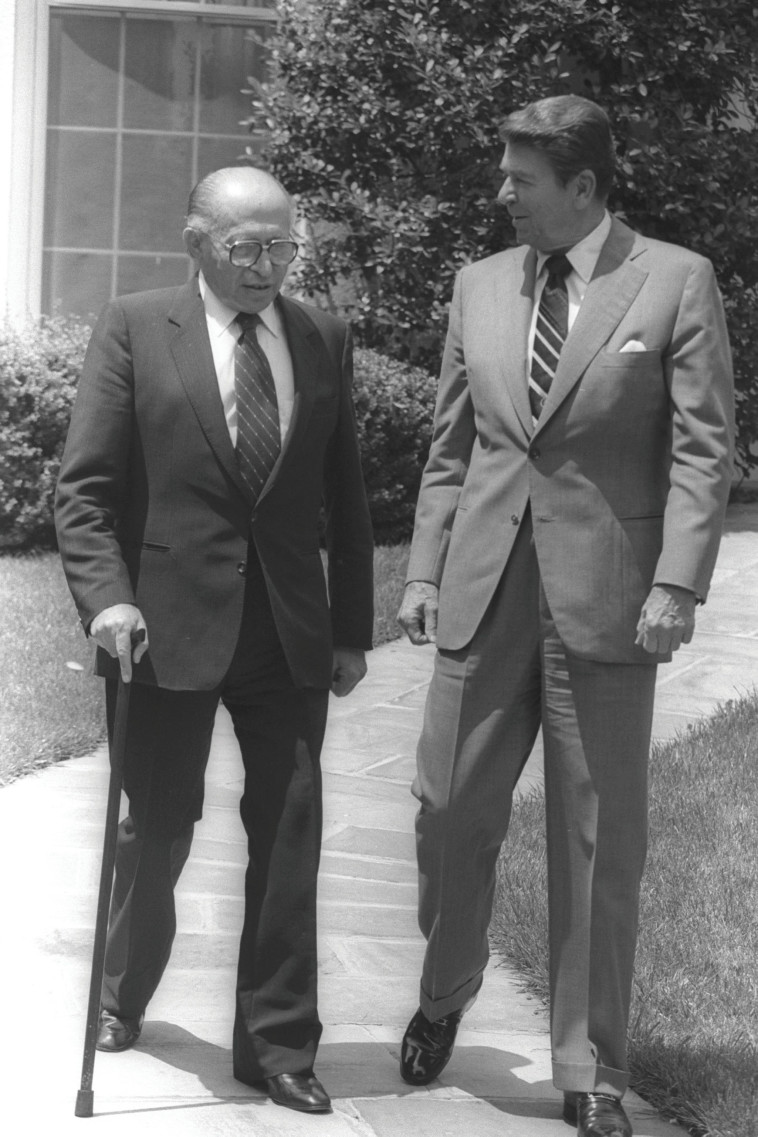 Ronald Reagan y Menachem Begin (Foto: Yaakov Saar, GPO)