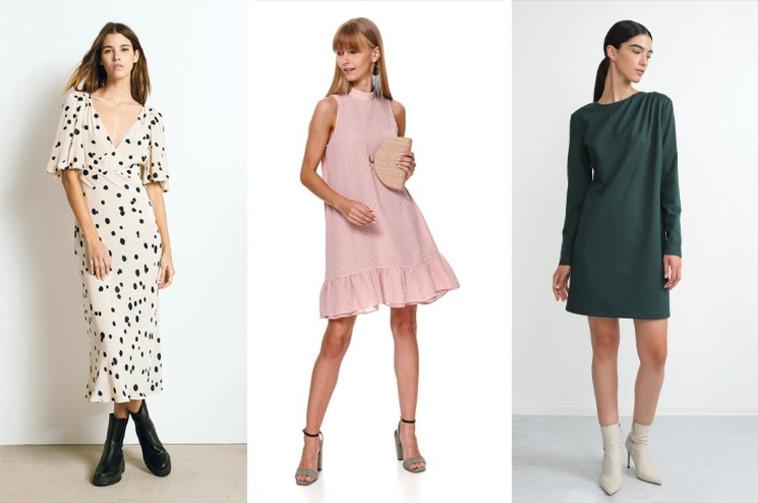 שמלות לחג: מימין רונן חן, SHOESONLINE ומשמאל- BASH לבוטיק 77 (צילום: זהר שטרית,יחצ)