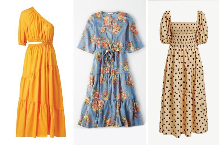 שמלות לחג: מימין אתר NEXT, אמריקן איגל ומשמאל - מנגו (צילום: יחצ חול,יחצ)