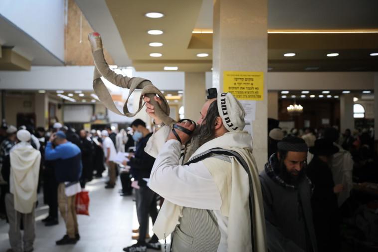 ראש השנה באומן (צילום: חיים גולדברג 'כיכר השבת')