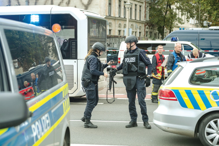 פיגוע בבית כנסת בגרמניה, יום כיפור 2019 (צילום: Jens Schlueter.GettyImages)
