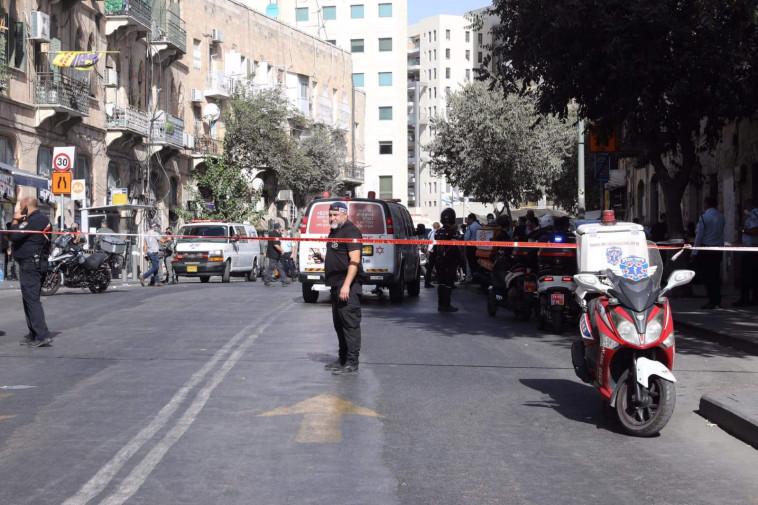 זירת הפיגוע בירושלים (צילום: מרק ישראל סלם)