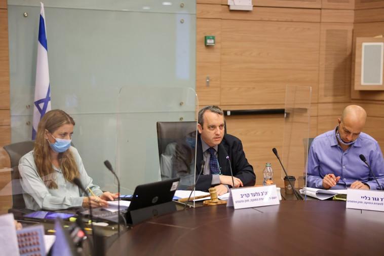 ח''כ גלעד קריב בדיון בוועדת החוקה (צילום: נועם מושקוביץ, דוברות הכנסת)