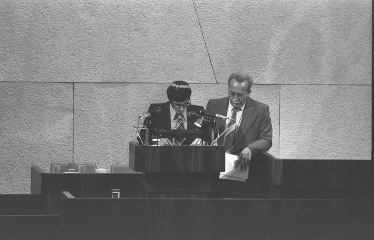 אהרון אבוחצירא בכנסת  (צילום: משה מילנר, לע''מ)