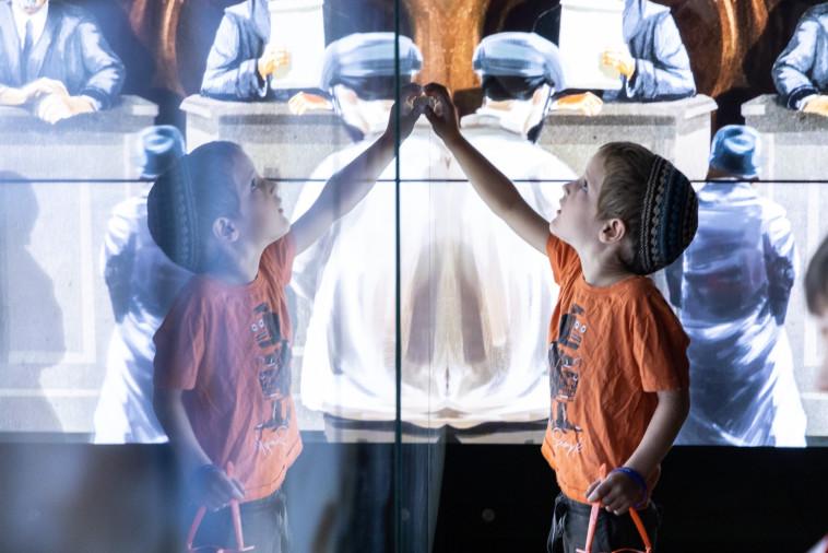 פעילות לילדים במוזיאון ידידי ישראל  (צילום:  דויד סעד)