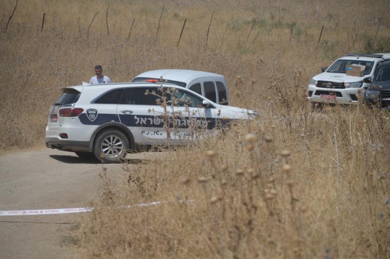זירת האירוע בירדן ההרי (צילום: דוברות המשטרה)
