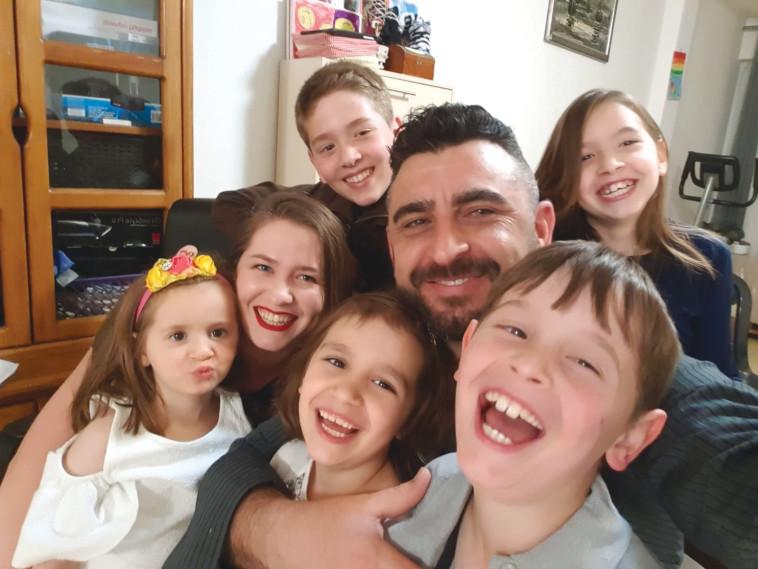 דוד ריסין ומשפחתו (צילום: פרטי)
