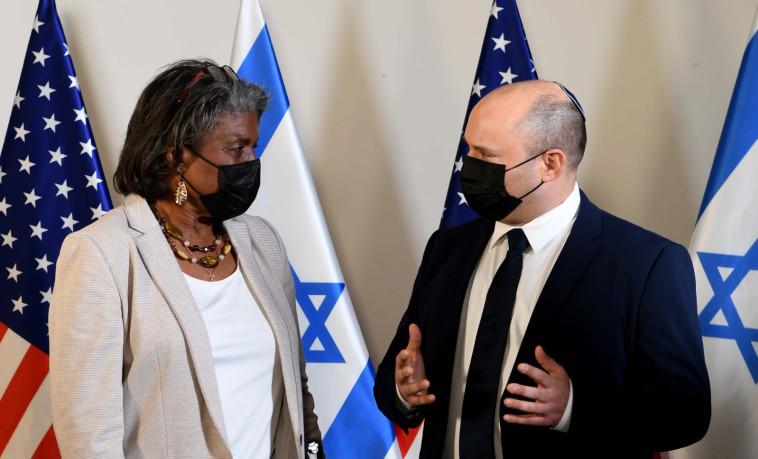 פגישת בנט ושגרירת ארה''ב לאו''ם (צילום: אבי אוחיון, לע''מ)
