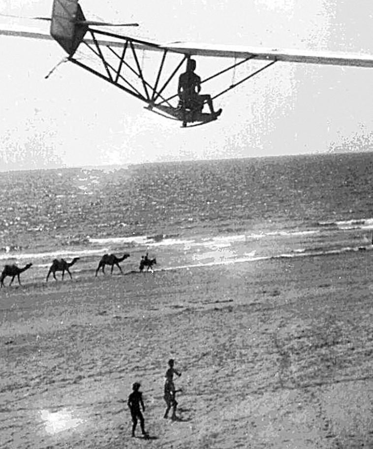 בנימין כהנא, דואה מעל חוף בת ים (צילום: מתוך ויקיפדיה)