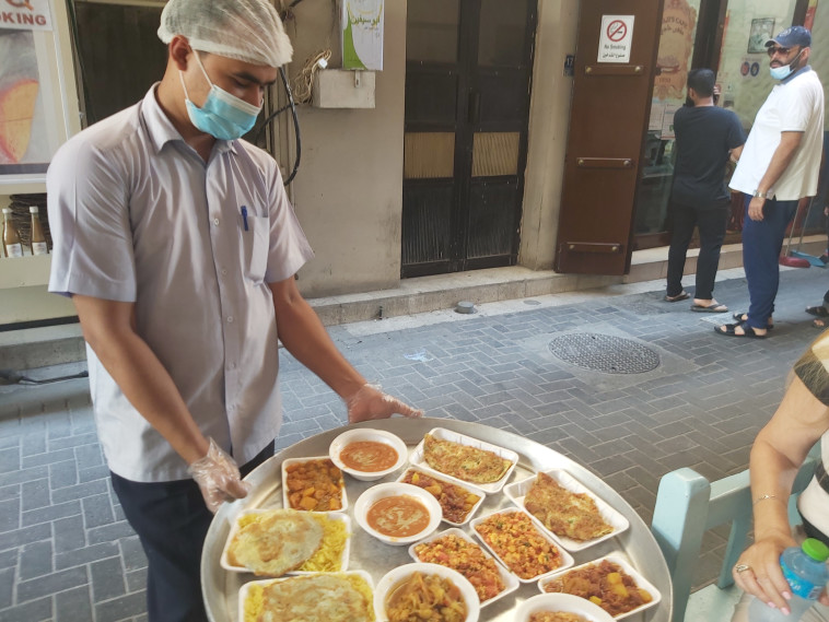 Authentic breakfast at Haji Restaurant (Photo: Moshe Cohen)