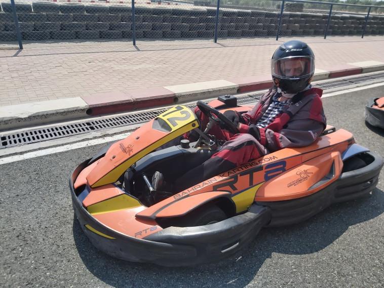 Karting on the Formula 1 track (Photo: Moshe Cohen)