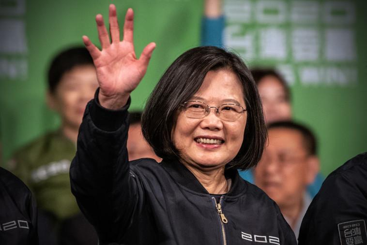 נשיאת טיוואן צאי יינג-ון (צילום: Carl Court/Getty Images)