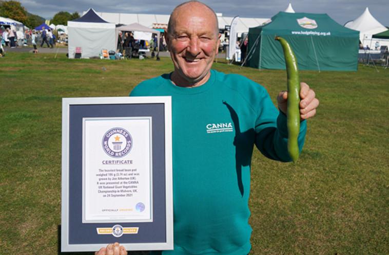 תרמיל השעועית הכבד ביותר (צילום: Guinness World Records)