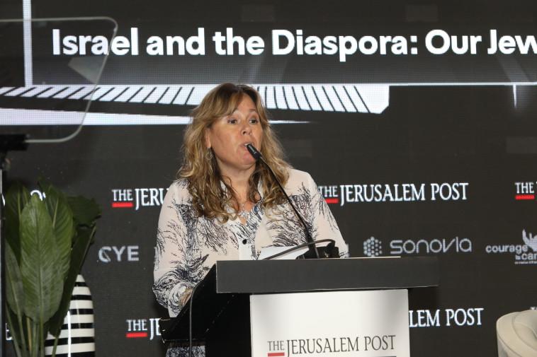 אמירה אהרונוביץ', מנכ''לית הסוכנות היהודית (צילום: מרק ישראל סלם,אבשלום ששוני)