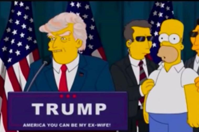 משפחת סימפסון חזתה את הנשיאות של טראמפ (צילום: Getty images)